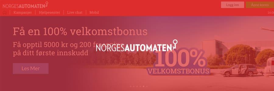 Norgesautomaten ger välkomstbonus